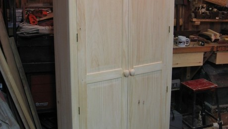 Cupboard ready for finishing.