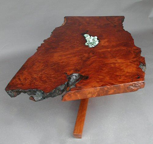 Redwood Tree Coffee Table: Live-edge Redwood Coffee Table