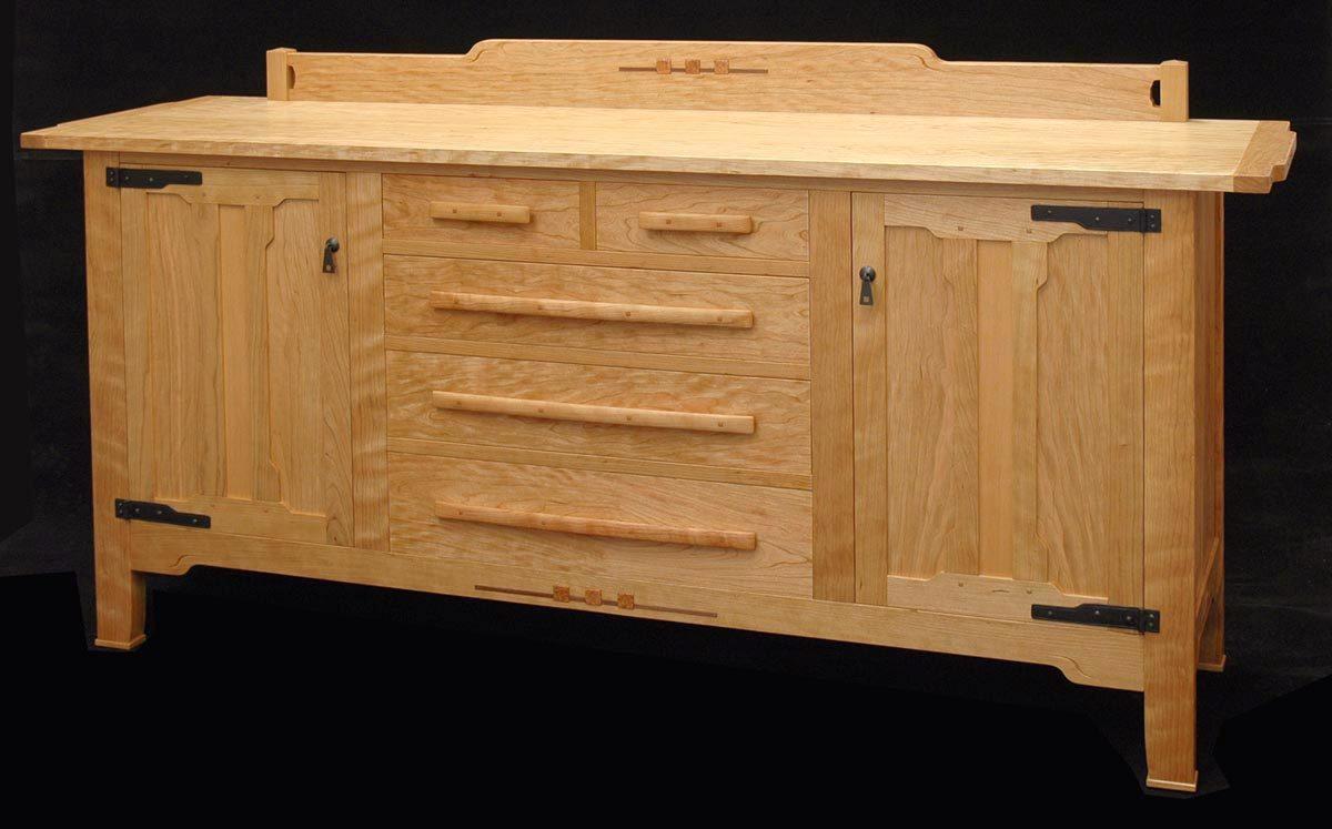 A Greene Greene Style Sideboard FineWoodworking Greene And Greene Sideboard  2 1200x747 A Greene Greene Style Sideboard Greene And Greene Furniture Plans