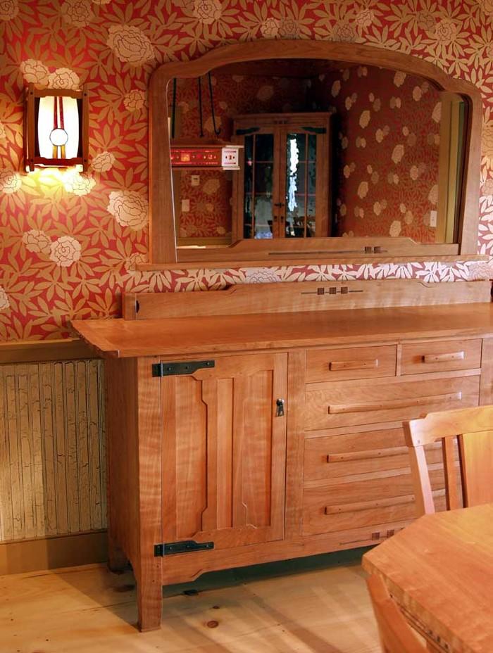A greene greene style sideboard finewoodworking for Greene and greene inspired furniture