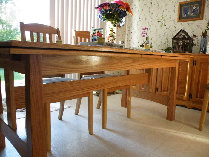 dutch pullout dining room table - finewoodworking