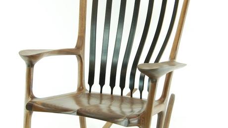 Rocking Chair - Ebony & Walnut - FineWoodworking