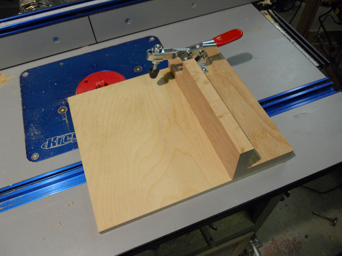 Router table tenoning sled - FineWoodworking