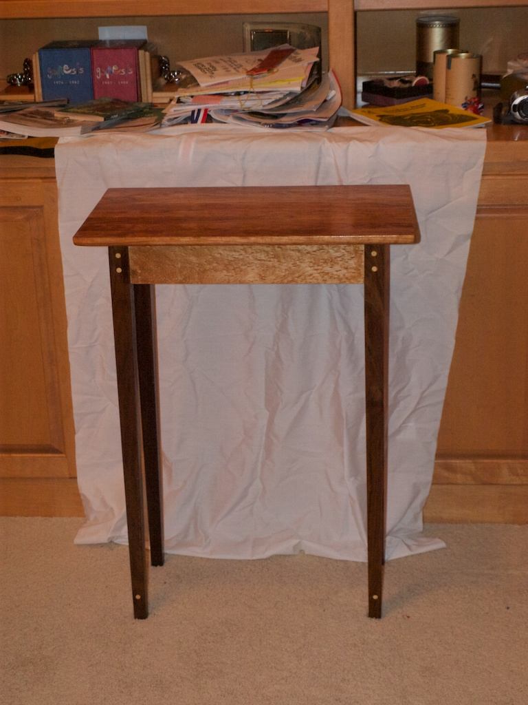 Foyer Table Display : Hall display table finewoodworking