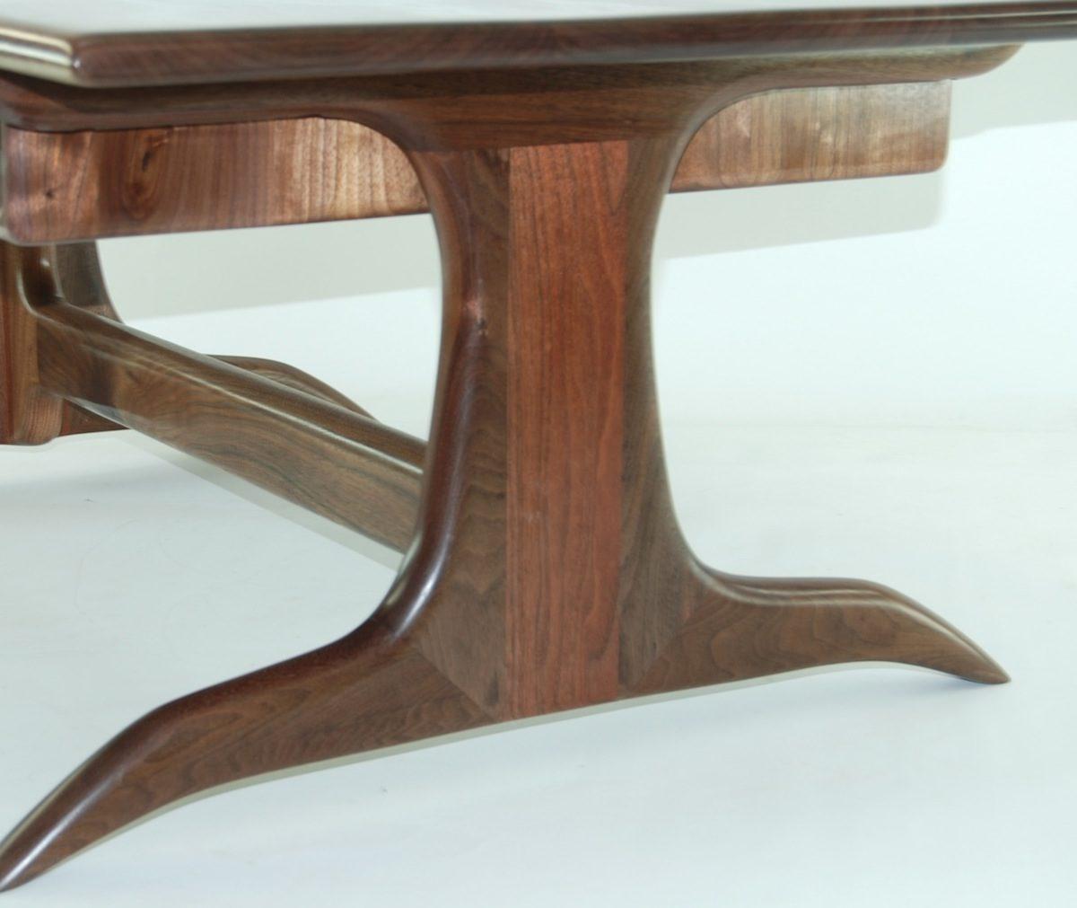 Walnut trestle coffee table finewoodworking for Trestle coffee table