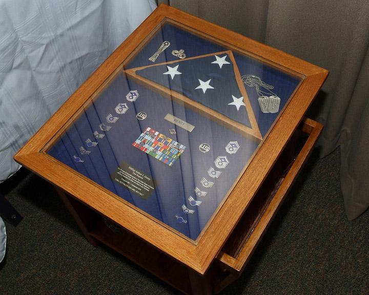 MilitaryRetirement Shadow Box Table