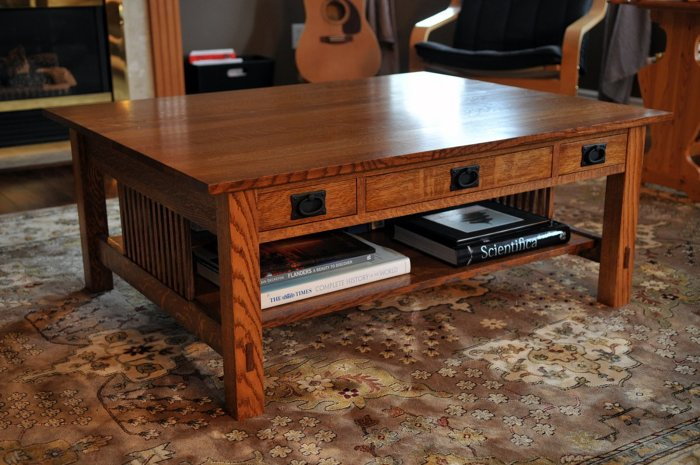 Perfect Drawers Are Placed On Both Sides Of The Table Which Provides A Lot Of  Storage Space For Small Items. Quarter Sawn Oak Was ...