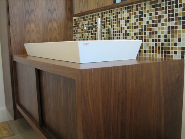 84 solid walnut bathroom vanity