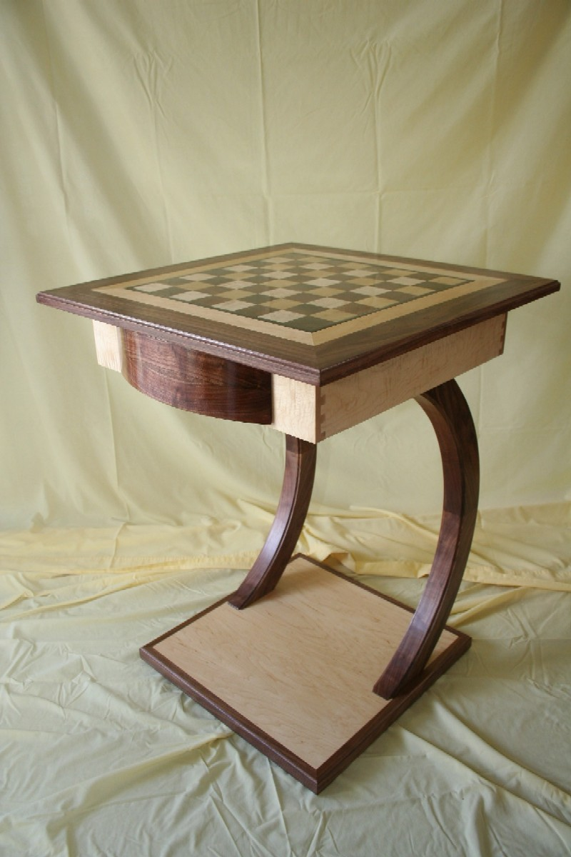 Modern Chess Table Maple & Walnut Chess Table  Finewoodworking