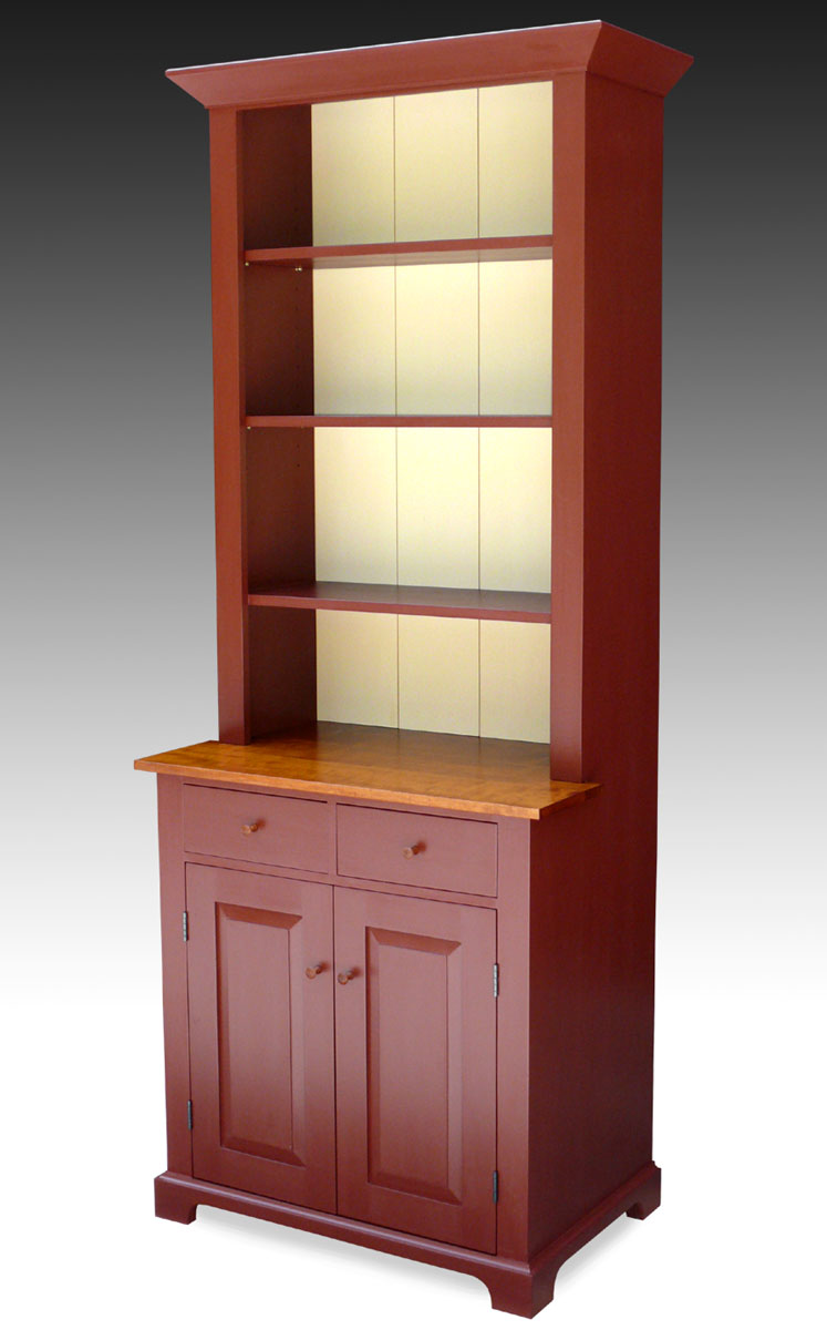 Shaker Style Hutch, Milk Painted