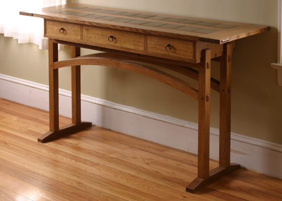 Tile Top Entry Table Finewoodworking