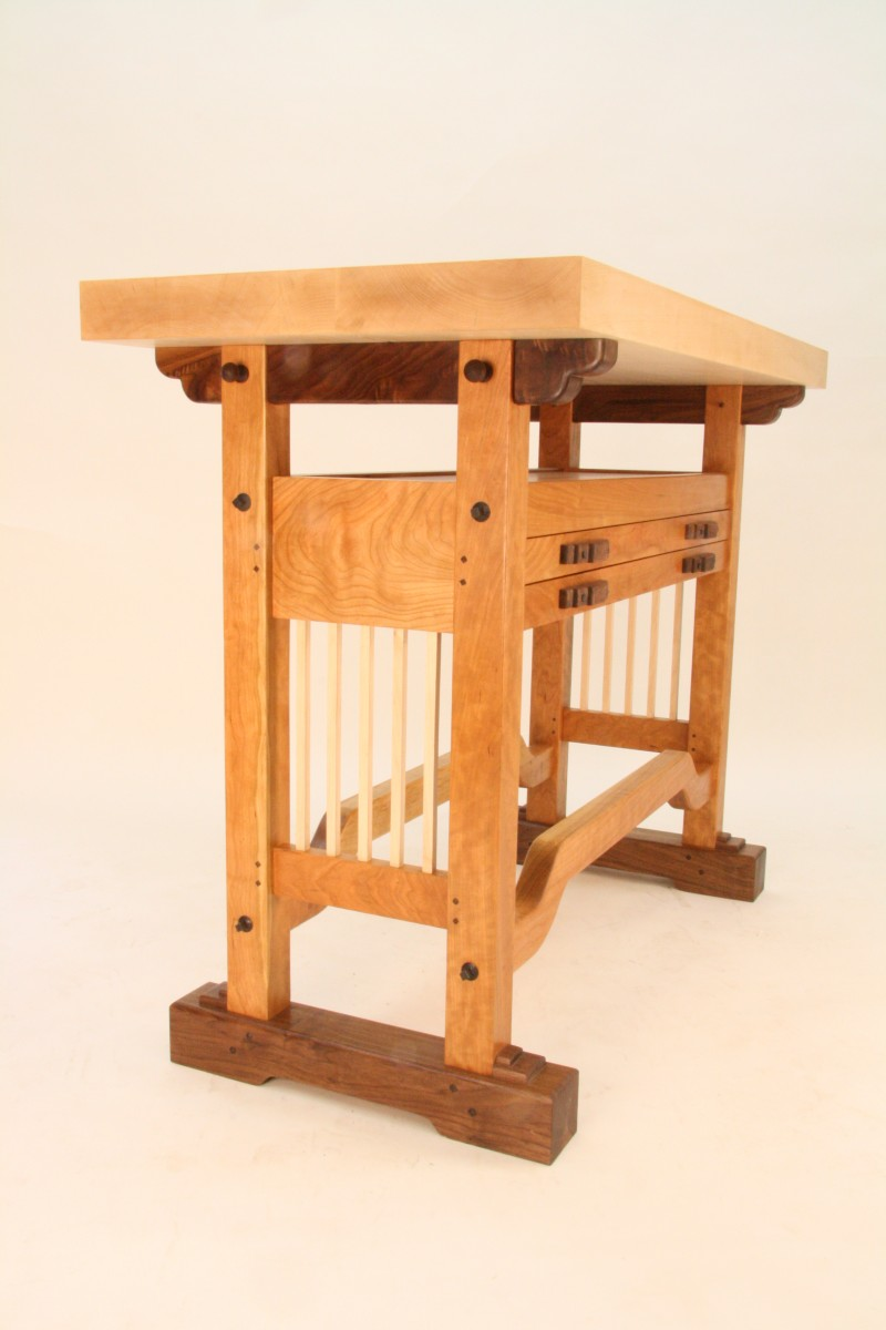 Marvelous The Table Is Designed To Support Furntiure Pieces For Carving. The Two Hung  Drawers Hold 50 Carving Tools.