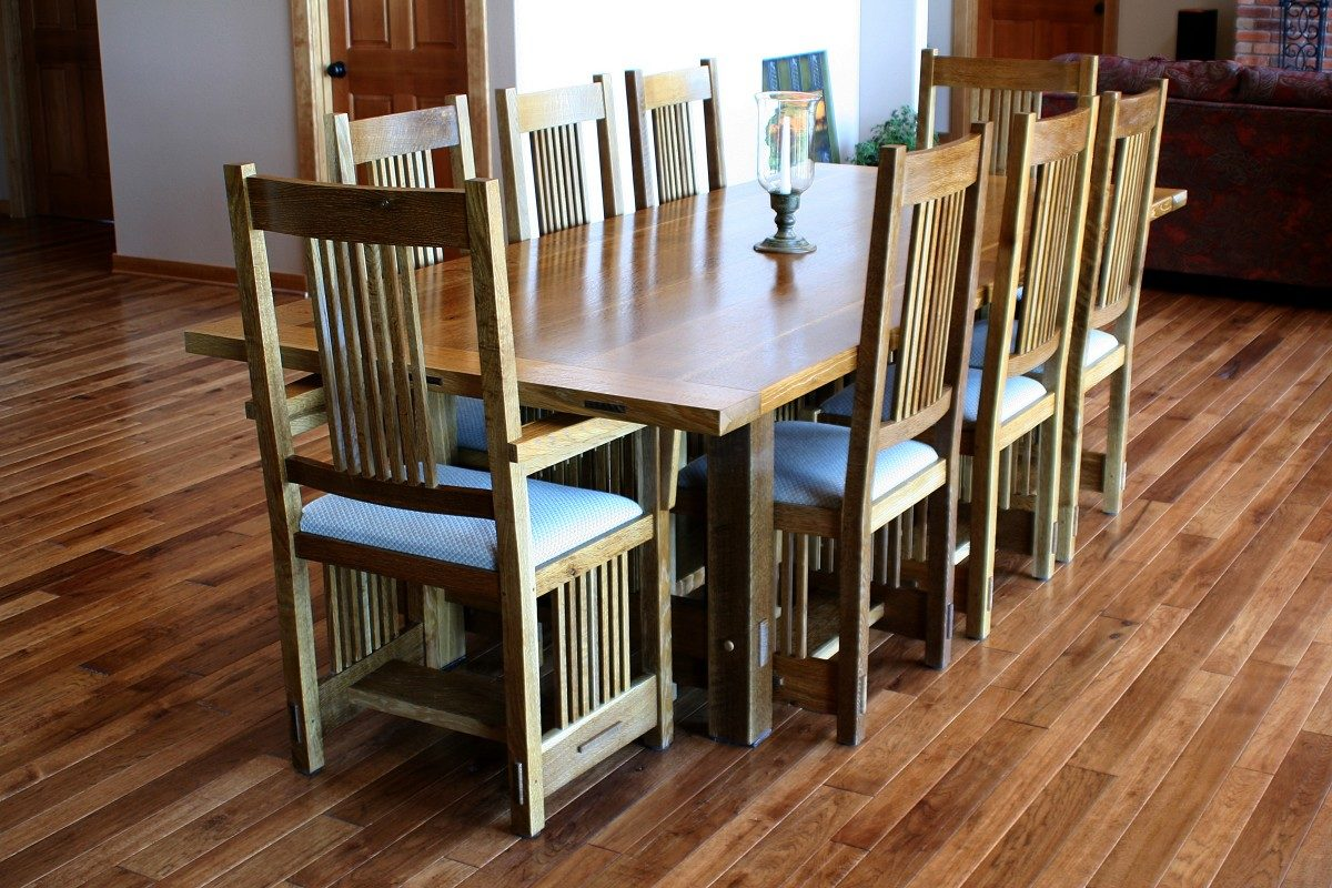 Stickley dining room table chairs finewoodworking for Fine woodworking magazine discount