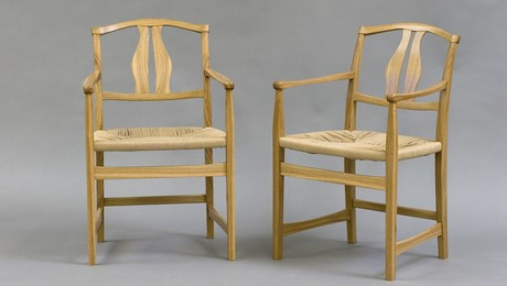 Almost all measurements and patterns were taken from instructors Michael Burns' and Todd Sorensen's own Vidar chairs.  Having the chairs there with me at the shop was invaluable:  taking measurements is one thing, but actually getting a sense of the piece is another thing entirely...