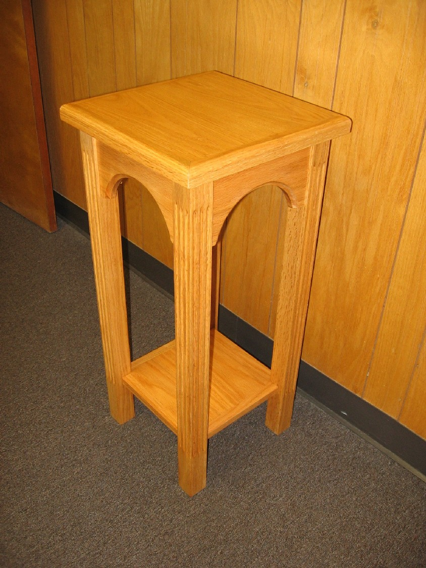 Church flower table finewoodworking for Email table design