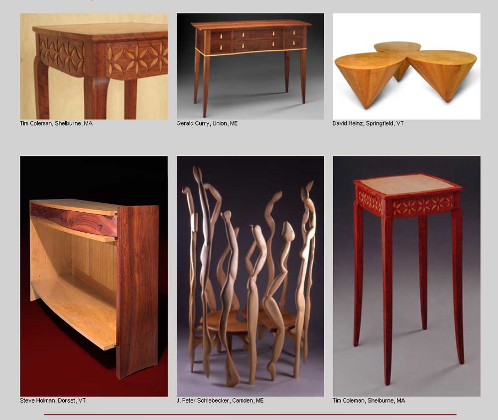The Show Includes Two Other Dorset Furniture Makers, Steve Holman And Bill  LaBerge As Well As Fine Woodworking Contributor Garrett Hack.