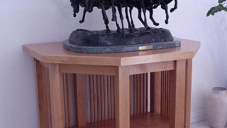Alder Display Cabinet for Bronze Sculpture