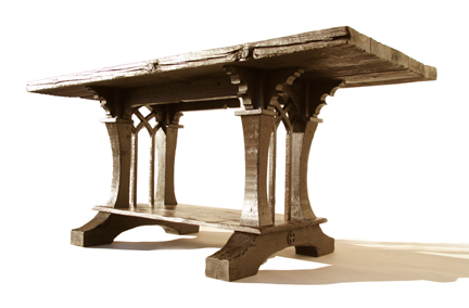 Baby Grand Dining Table from reclaimed wood - FineWoodworking