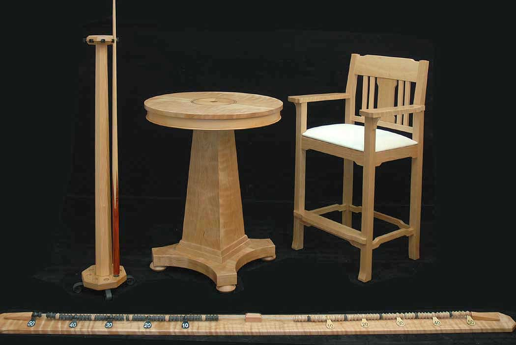 high chaircue rackdrink table and score string for a fir table