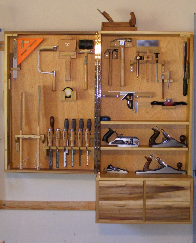 Tool cabinet finewoodworking for Cabinet design tool