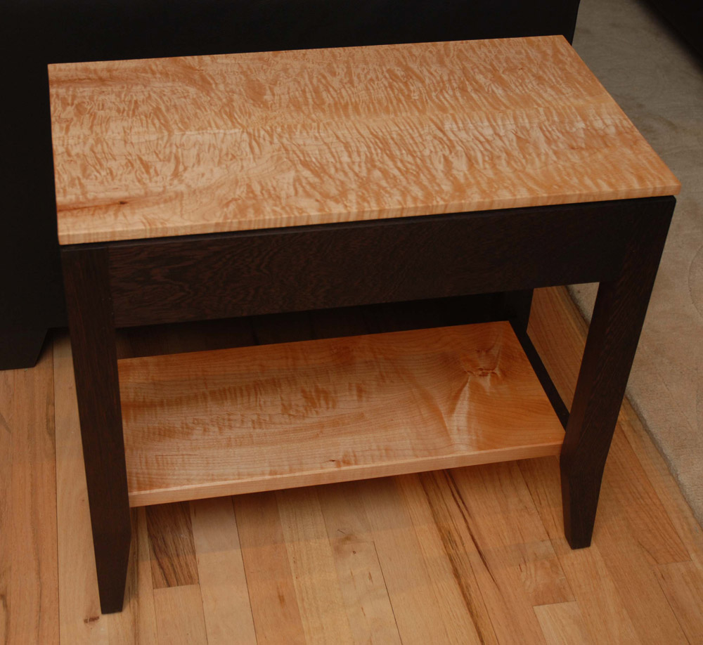 Wenge U0026 Quilted Maple Table Sml Top