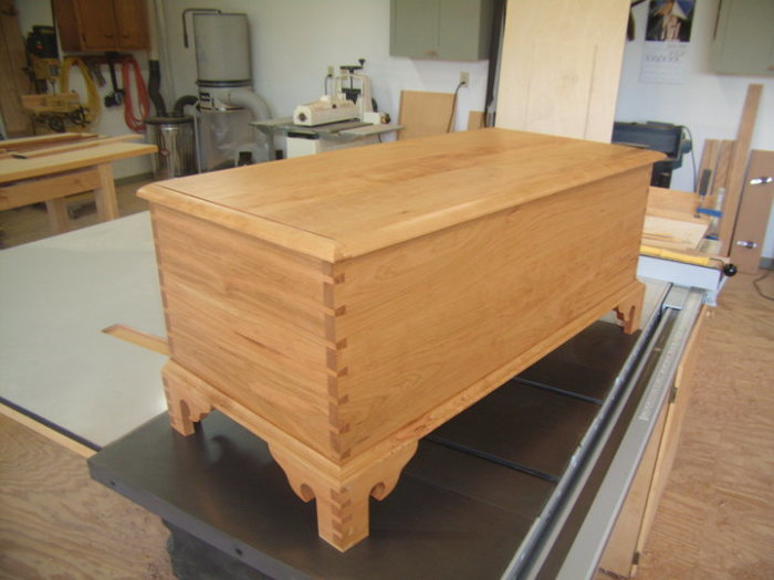 Cerry chippendale blanket chest finewoodworking for Blanket chest designs