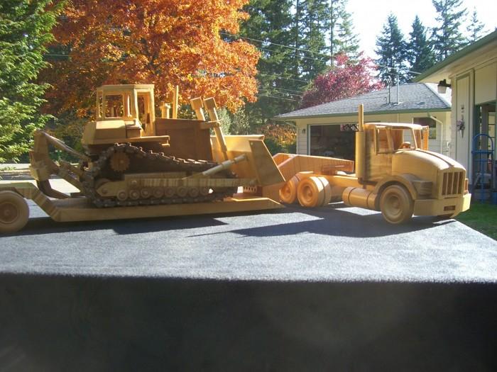 Toys And Joys Lynden Wa : Toys joys low boy trailer and high track dozer