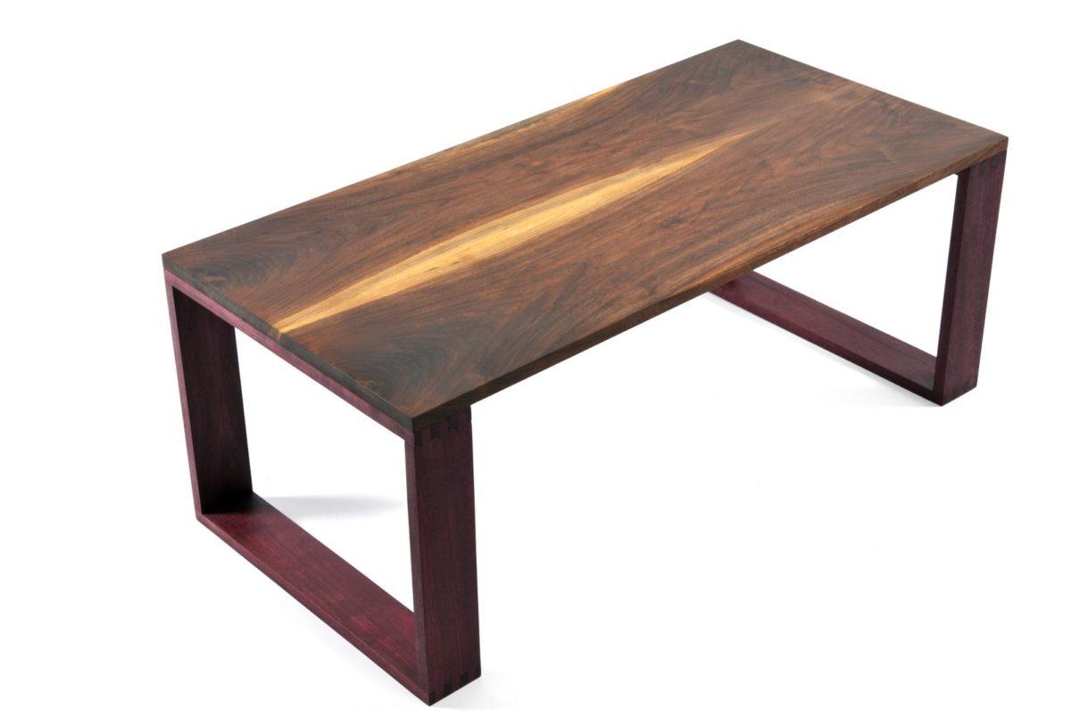 Walnut purple heart coffee table finewoodworking for Purple coffee table