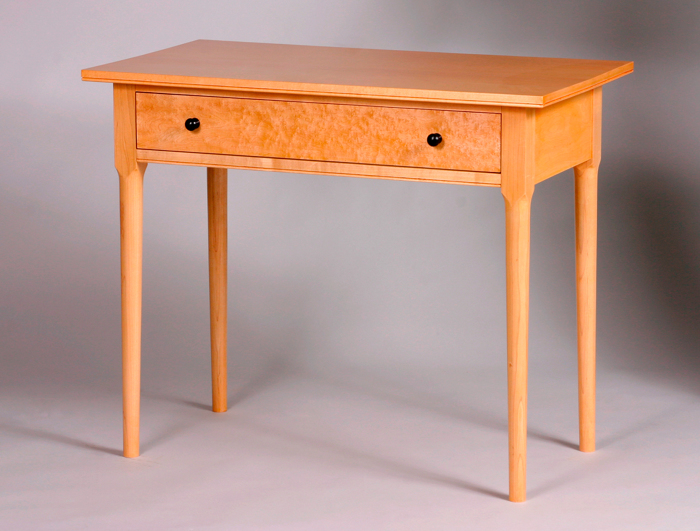 Shaker inspired writing desk finewoodworking for Email table design