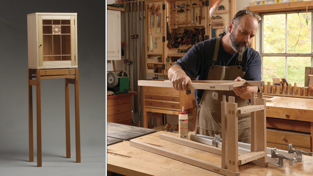 Display Cabinet on a Stand - FineWoodworking