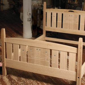 Free furniture plans from the pages of fine woodworking for Arts and crafts bed plans