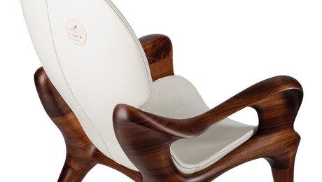 Sculpted Black Walnut Chair - FineWoodworking