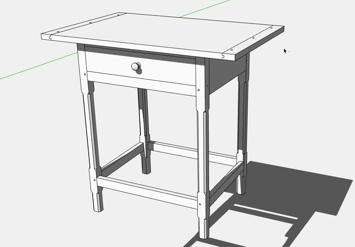 How To Develop A Piece Of Furniture In SketchUp