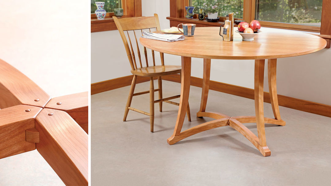 Dining table shows off its joinery. Woodworking Projects and Plans   FineWoodworking