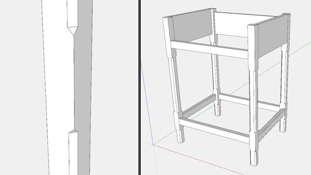 How to Develop a Piece of Furniture in SketchUp   Part II. Design  Click  Build   FineWoodworking