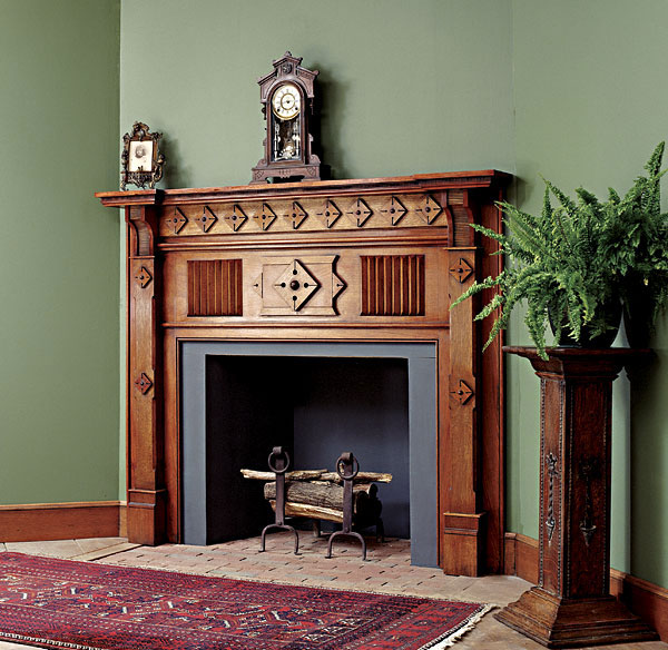 Woodworker: Mario Rodriguez For this mantel