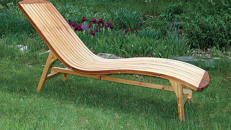 Folding chaise lounge finewoodworking for Cedar chaise lounge plans