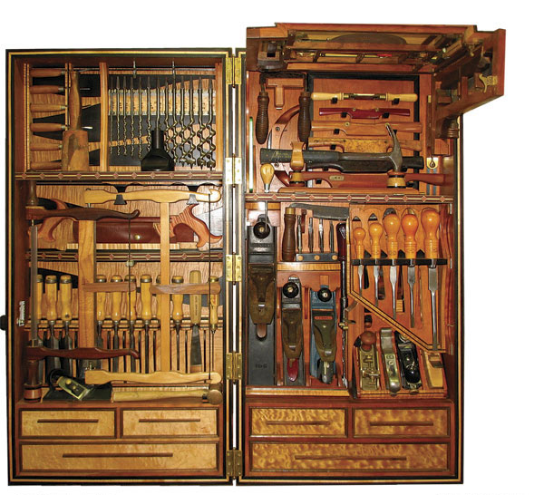 Studley inspired tool chest finewoodworking - Wood cabinet design software ...