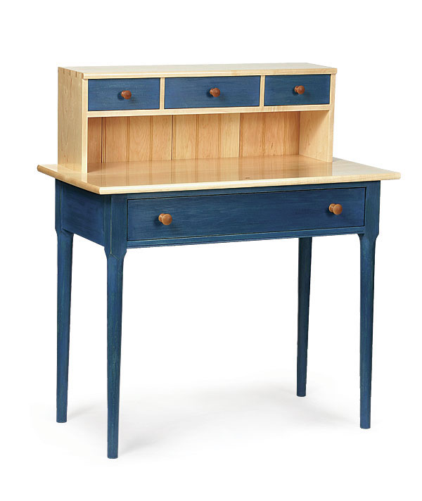 an associate art director at fine woodworking and an avid woodworker was influenced by the shaker aesthetic for the design of this childu0027s desk