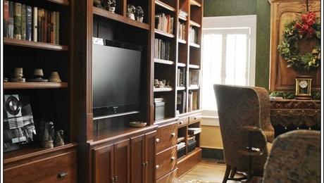 Custom Traditional Built-In Bookshelves by Turner Custom Furniture on CustomMade.com