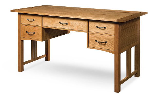 Woodworker Michael J HoltonAlthough Mission Style Furniture Is Typically Made From White Oak Holton Convinced His Client To Use Cherry On This Desk