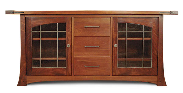 Craftsman style media cabinet finewoodworking for Craftsman cabinet plans