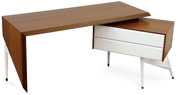 Modern Desk modern desk of sapele and maple - finewoodworking