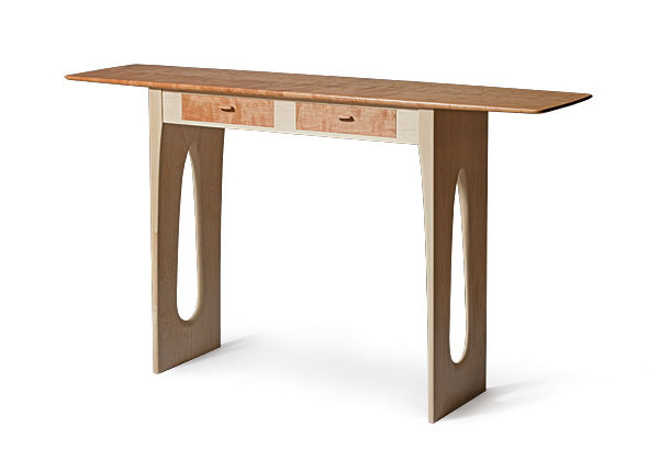 Woodworker: Adam WebbWebb Wanted To Convey A Feeling Of Lightness And  Warmth In This Contemporary Take On A Shaker Hall Table. The Table Is  14 1/2 In. Deep ...