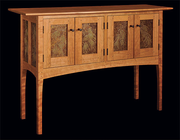 back lit shaker sideboard finewoodworking. Black Bedroom Furniture Sets. Home Design Ideas