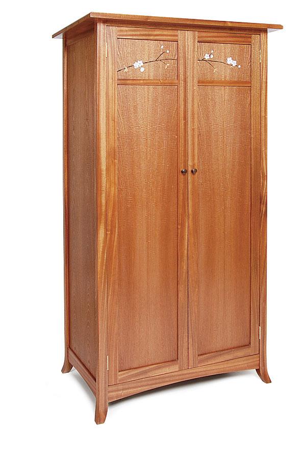 Marquetry wardrobe finewoodworking