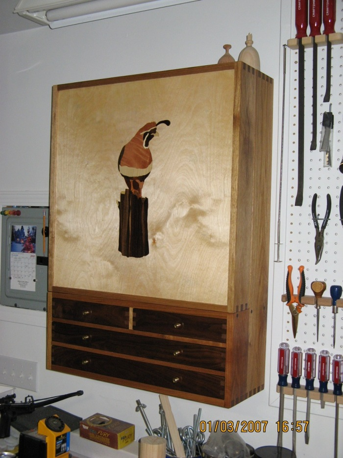 Nut-Wood Hanging Tool Cabinet - FineWoodworking