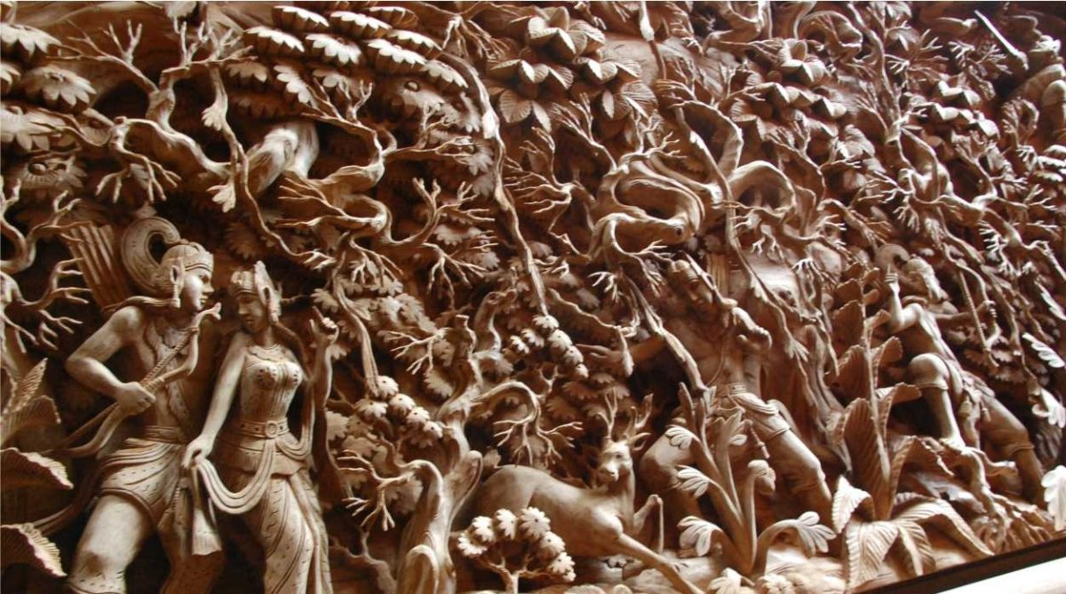 Grandfather S Project Ramayana Carve From Indonesia