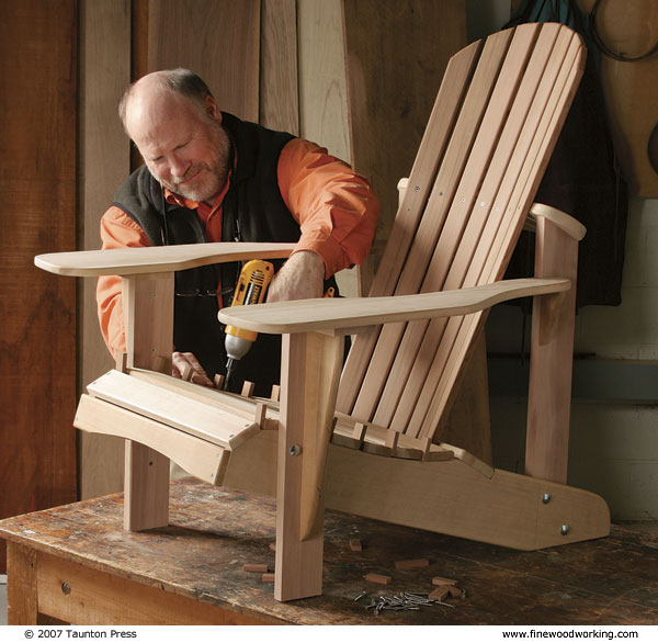 How to make outdoor furniture finewoodworking for Furniture making courses