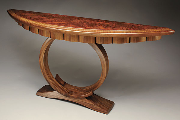 Long Foyer Xl : Circular stand hall table finewoodworking